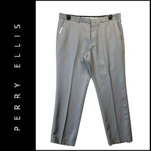 Perry Ellis Portfolio Mens Non Iron Pants Gray 36